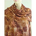 Selection Privee 'Ilona' Evening Dressy Silk Floral Beaded Shawl