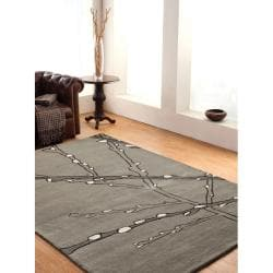 nuLOOM Handmade Moda Tree Branch New Zealand Wool Rug (7'6 x 9'6)