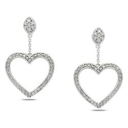 Miadora 10k White Gold 1/2ct TDW Diamond Dangle Earrings (G-H, I2-I3)