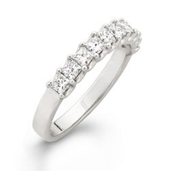 14k White Gold 1ct TDW Princess Diamond Wedding Band (H-I, I1-I2)