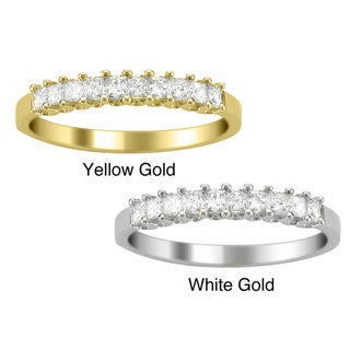 14k Gold 1/2ct TDW Princess Diamond Wedding Band (H-I, I1-I2)