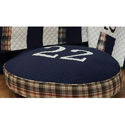 Greenland Home Fashions Rugby Plaid Quilted Pillow