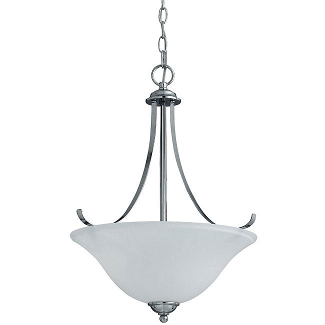 Transitional 3-light Chrome Pendant