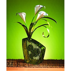 Deco Breeze DBF0253 Calla Lilies Figurine Fan