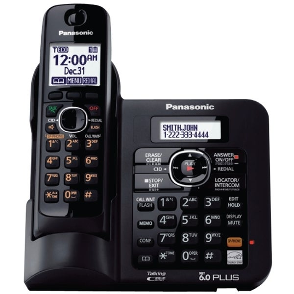 Panasonic KX-TG6641B DECT 6.0 1.90 GHz Cordless Phone - Black
