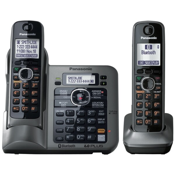Panasonic Link2Cell KX-TG7642M DECT 6.0 1.90 GHz Cordless Phone - Met