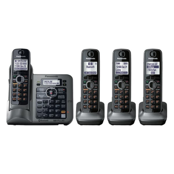 Panasonic KX-TG7643M Standard Phone - 1.90 GHz - DECT - Metallic Gray