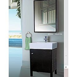 Imperial 23 Inch Wood Black/ White Bathroom Vanity and Medicine Cabinet