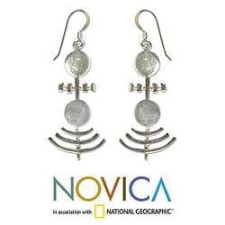 Sterling Silver 'Anchor Intrigue' Dangle Earrings (Thailand)