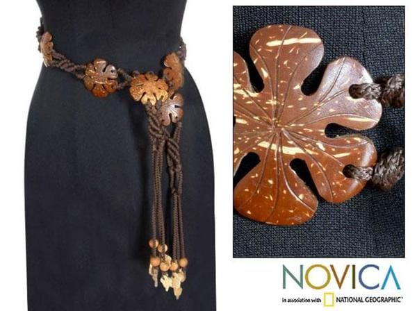 Coconut Shell 'Blossoms' Belt (Thailand)