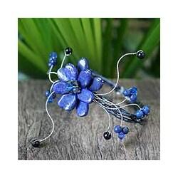 Lapis Lazuli 'Blue Bouquet' Wrap Bracelet (Thailand)