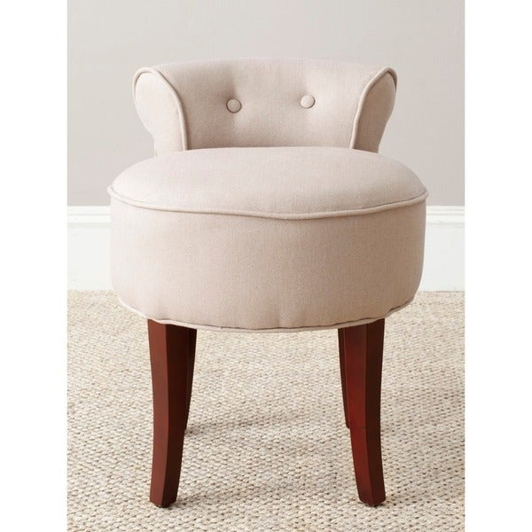 Safavieh Rochelle Light Grey Vanity Chair
