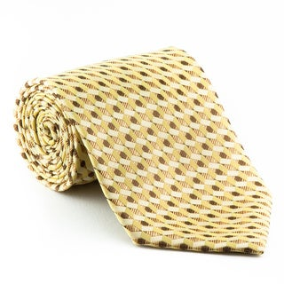 Platinum Ties Men's 'Level One' Gold Tie