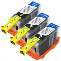INSTEN Canon BCI-3eBK Compatible Black Ink Cartridges (Pack of 3)