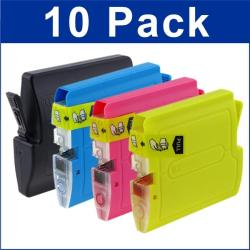 INSTEN Brother LC51 Compatible Black/ Color Ink Cartridge (Pack of 10)