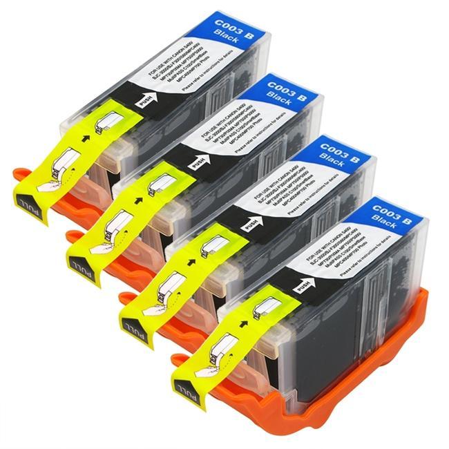 INSTEN Canon BCI-3eBK Compatible Black Ink Cartridges (Pack of 4)