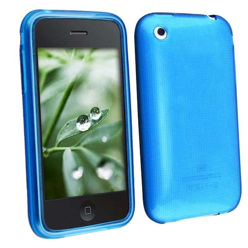 INSTEN Clear Sky Blue Shatterproof TPU Rubber Phone Case Cover for Apple iPhone 3G/ 3GS