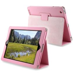 Light Pink Leather Case with Stand for Apple iPad 2