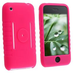 Hot Pink Silicone Case for Apple iPhone 3G/ 3GS