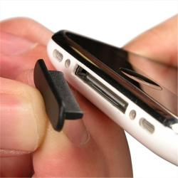 INSTEN Black Plug Cap for Apple iPhone 3G/ 3GS/ iPod (Pack of 2)