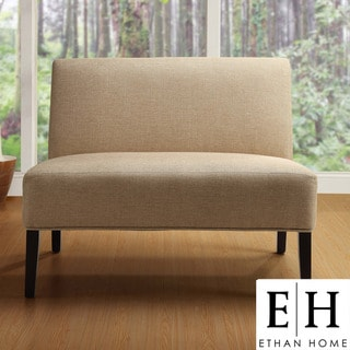 ETHAN HOME Easton Beige Linen Fabric 2-seater Accent Loveseat