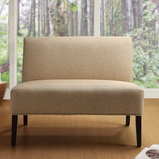 TRIBECCA HOME Easton Beige Linen Fabric 2-seater Accent Loveseat