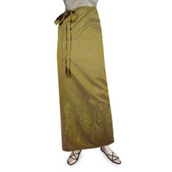 Silk and Cotton 'Sunny Rice Field' Sarong (Thailand)
