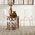 ETHAN HOME Canali Crystal Clear Sleek Modern Accent Chair (Set of 2)