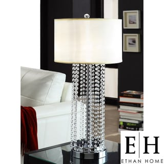 ETHAN HOME Saxton 1-light Crystal Chrome Table Lamp