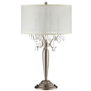 Silver Mist 3-light Crystal Chrome Table Lamp