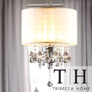 TRIBECCA HOME Silver Mist Crystal Chandelier