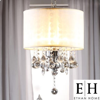 ETHAN HOME Silver Mist Crystal Chandelier