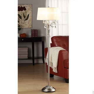 Silver Mist 1-light Crystal Chrome Floor Lamp