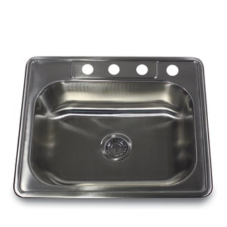 Stainless Steel Rectangular Kitchen Sink With Colander Drain