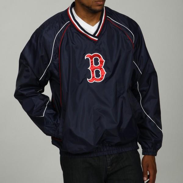 MLB Men's V-Neck Red Sox Pullover