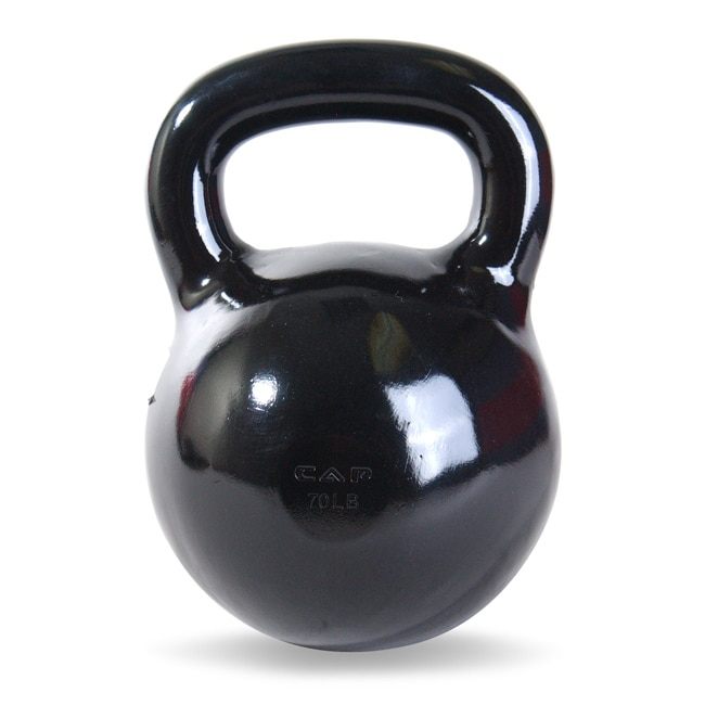 CAP Barbell 70-pound Cast Iron Kettlebell Weight (11' x 8' x 8')