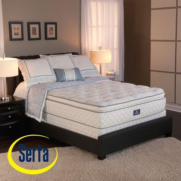 Serta Perfect Sleeper Conviction Super Pillowtop Split Queen-size Mattress and Box Spring Set
