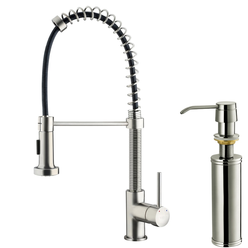 Pull Out Kitchen Faucet : Details about Stainless Steel Pull Out Spray Kitchen Sink Faucet Soap ...