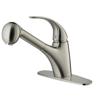 VIGO Stainless-Steel Pull-Out Spray Kitchen Faucet with Deck Plate (Mounting Hardware Included)