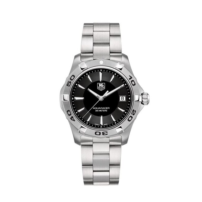 Tag Heuer Men's WAP1110.BA0831 Aquaracer Stainless Steel Black Dial Watch
