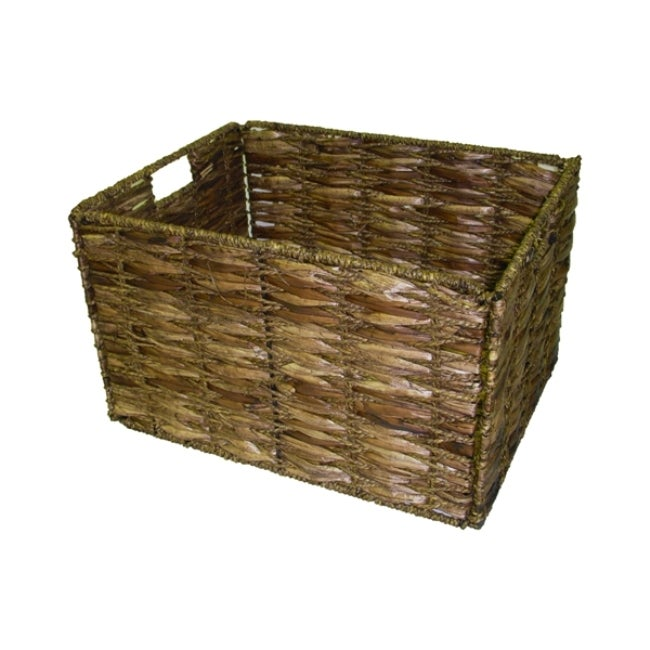 Large Two-tone Walnut Storage Baskets (Set of 6)
