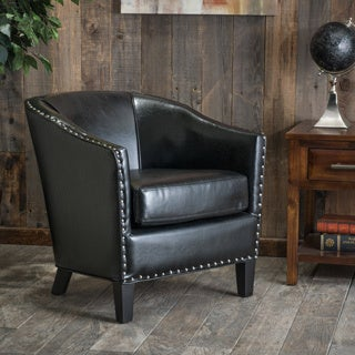 Christopher Knight Home Austin Black Leather Club Chair