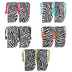ShoeTotes Zebra Print Laminate Fabric Shoe Bag