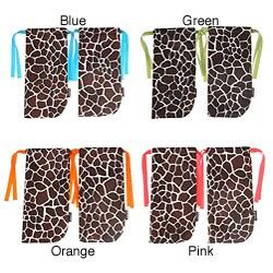 ShoeTotes Giraffe Print Laminate Fabric Shoe Bag