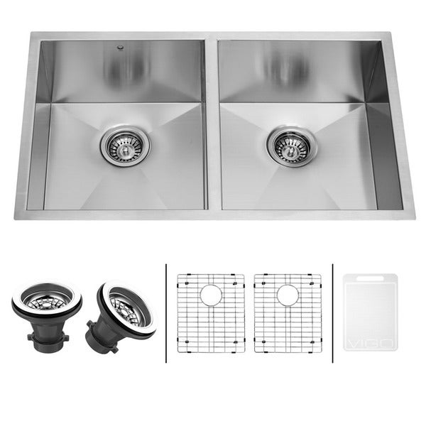 Sink Grids For Stainless Steel Sinks : ... Stainless Steel 16-gauge Stainless Steel Double Kitchen Sink, Grids