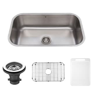 VIGO 30-inch Undermount Stainless Steel Kitchen Sink, Grid and Strainer
