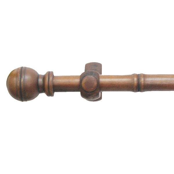 adeline 4 foot bamboo wood curtain rod set