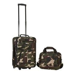 Rockland Expandable Camouflage 2-piece Lightweight Carry-on Luggage Set