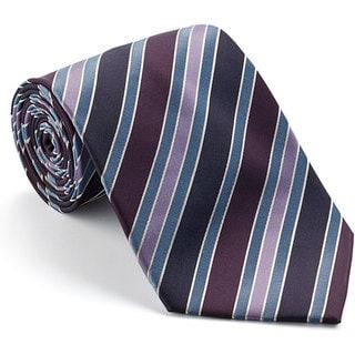 Platinum Ties Men's 'Berry Party' Striped Tie