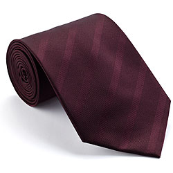Platinum Ties Men's 'Burgundy Subtle' Striped Tie